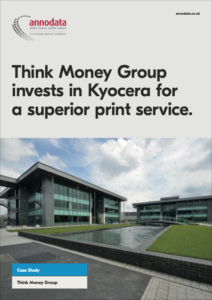 Think Money Group invests in Kyocera for a superior print service